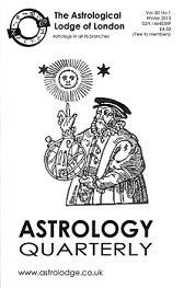 Astrology Quarterly Vol. 82 No. 1, Winter 2013